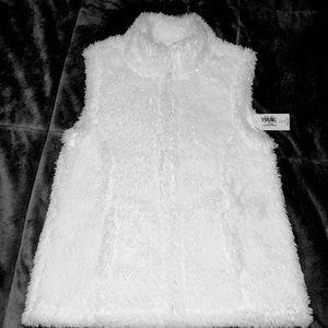 Girls size 5 Old Navy white vest